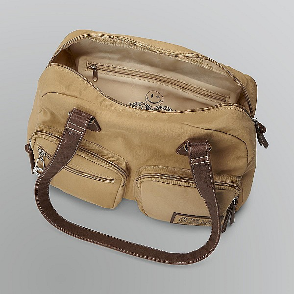 Joe Boxer Six-Pocket Satchel (Tan)